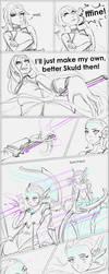 Warframe: Amalgam Skuld (sketchy comic) by MarikBentusi