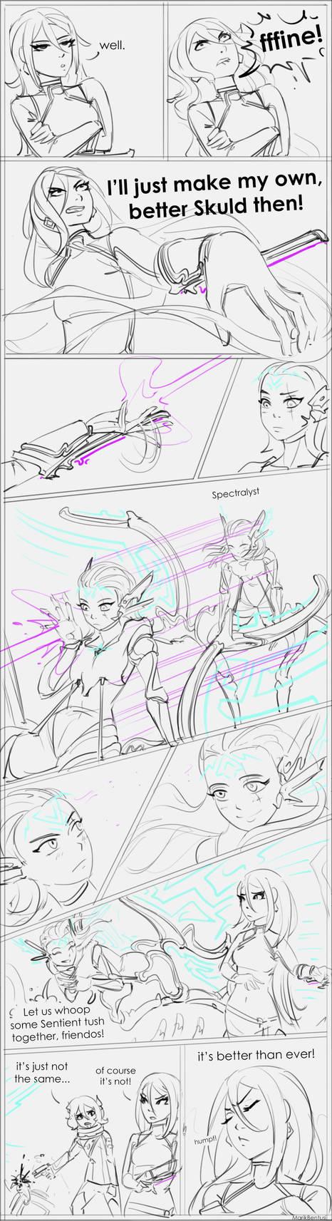 Warframe: Amalgam Skuld (sketchy comic)
