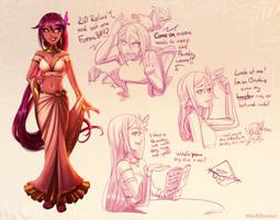 Warframe: Fancy Tyri (with sketches)