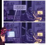 Dark Gwenpool spooks an investigator
