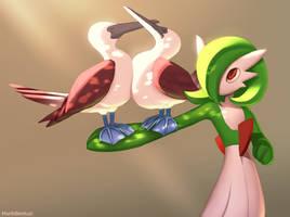 Pokemon: Gardevoir with big boobies