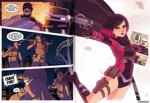 Dark Gwenpool: 2-Page-Spread (variant)
