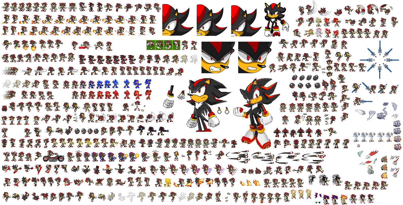 Shadow sprites by superdarkshadic