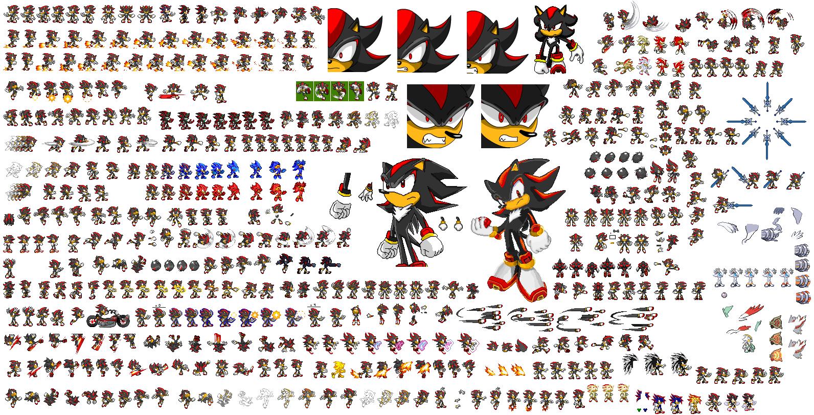Shadow sprites by superdarkshadic