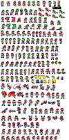 Mario Y Luigi SMW sprites by superdarkshadic