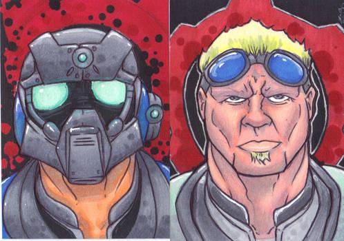 Gears Of War Sketch Cards