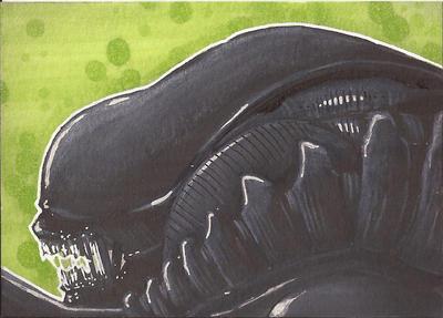 Alien Sketch Card