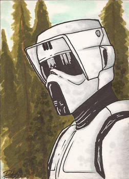 Scout Trooper Sketch Card