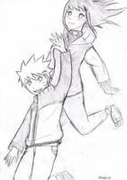 NaruHina practice sketch by Meow-Sasuke