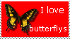 I love butterflys stamp by happybg