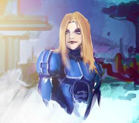 Starcraft Girl by RoyalPaladin