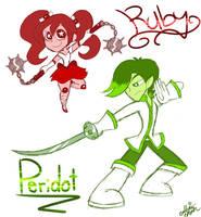 Steven Universe: Ruby and Peridot by PrincessCallyie