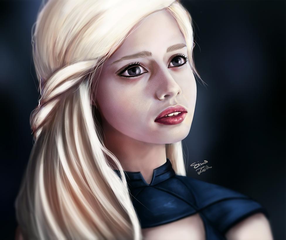Daenerys Targaryen Portrait by SimoXZaki