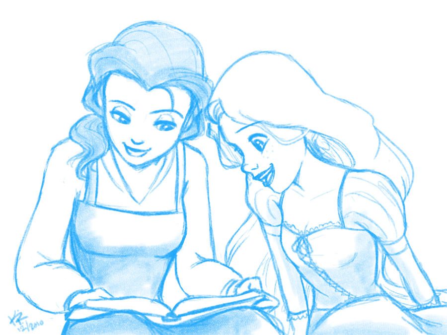 Bookworms - sketch by kra