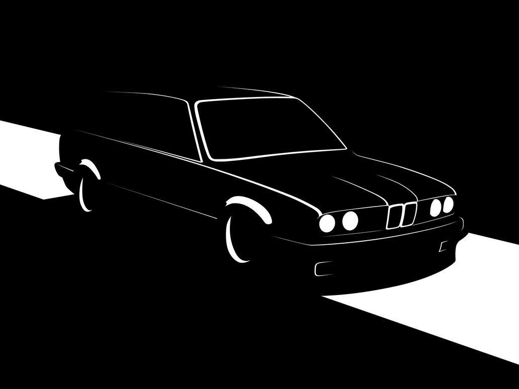bmw e30 touring silhouette - photo #2