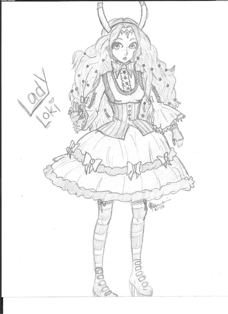 Lady Lolita Loki by costaku-chan