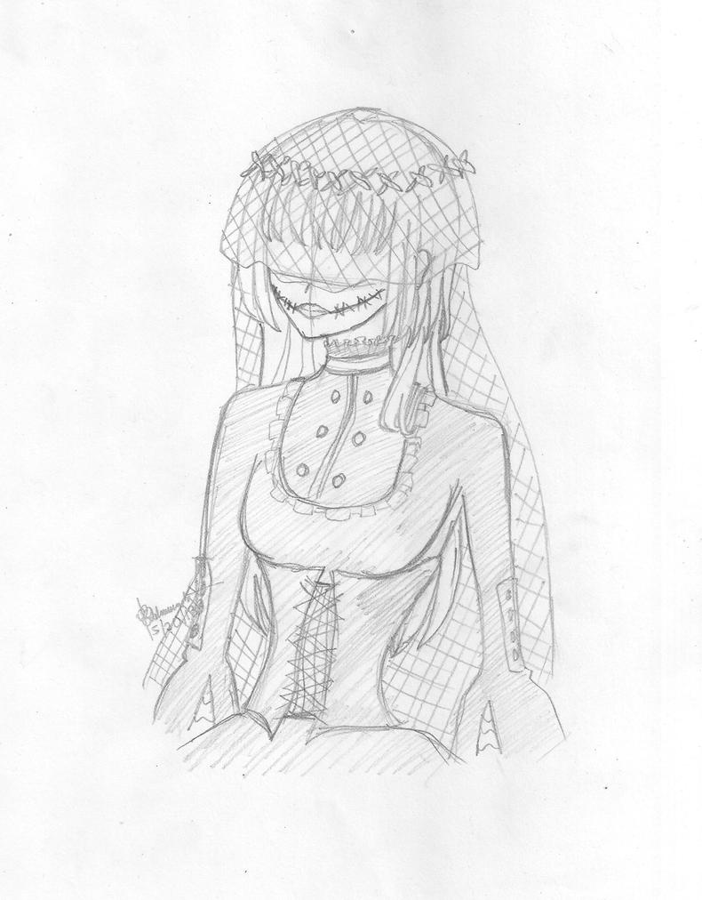 Slender Man's Bride Sketch by costaku-chan