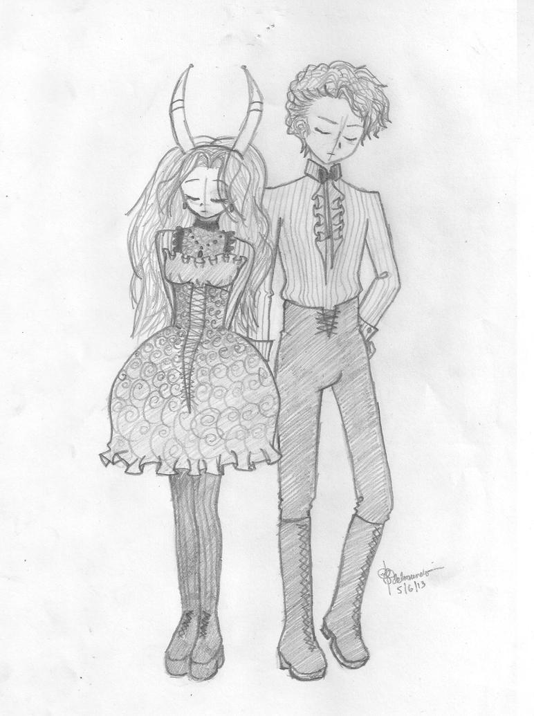 Lady Loki and Male!Natasha Sketch by costaku-chan