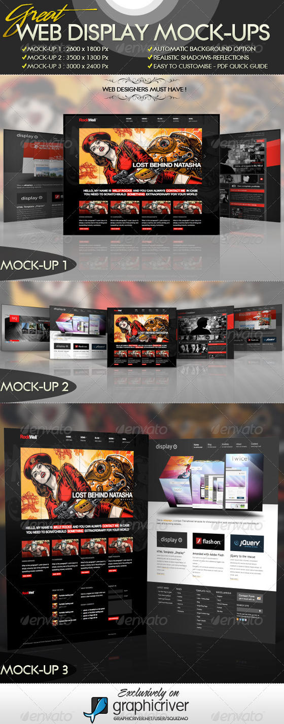 Great Web Display Mock-Ups by squizmo