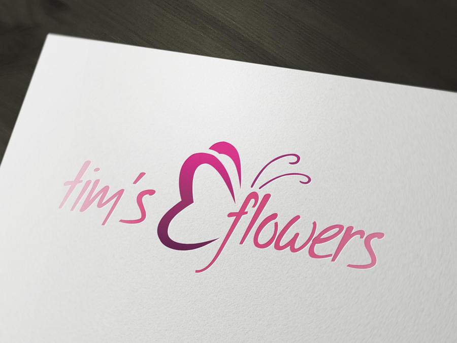 flower florist logo template psd by squizmo on deviantart. Black Bedroom Furniture Sets. Home Design Ideas