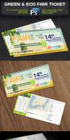 Green Eco Fair Ticket -Psd