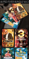 Party Flyer Bundle Vol.2 -Psd by squizmo
