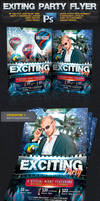 Exciting Night Party Flyer -Psd