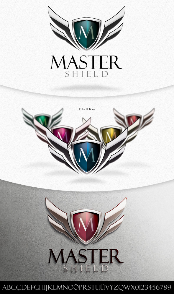 Master Shield Logo Template by squizmo