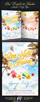One Night In Heaven Lounge Party Flyer