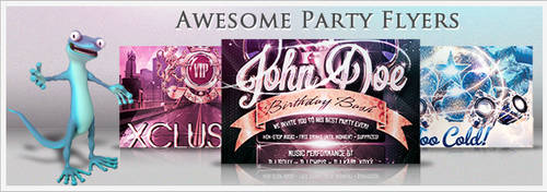 Awesome Party Flyers by squizmo