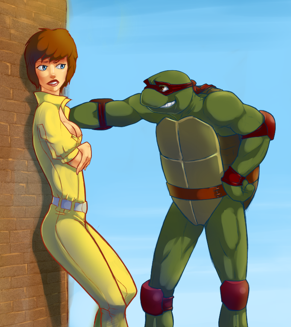 april and turtle by Flick-the-Thief