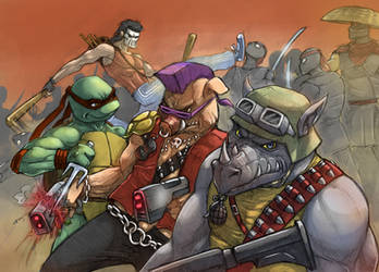 Bebop and Rocksteady etc by Flick-the-Thief