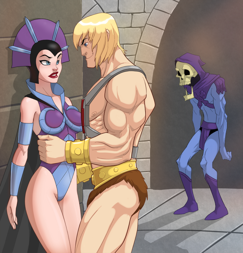 He-man and Evil-Lyn by Flick-the-Thief