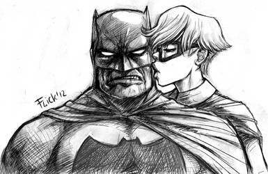 Batman and Robin scetch by Flick-the-Thief