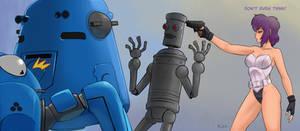 Humping Robot and Motoko Kusanagi