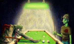 Pool-Playing Boogeymen by BenjaminForsell