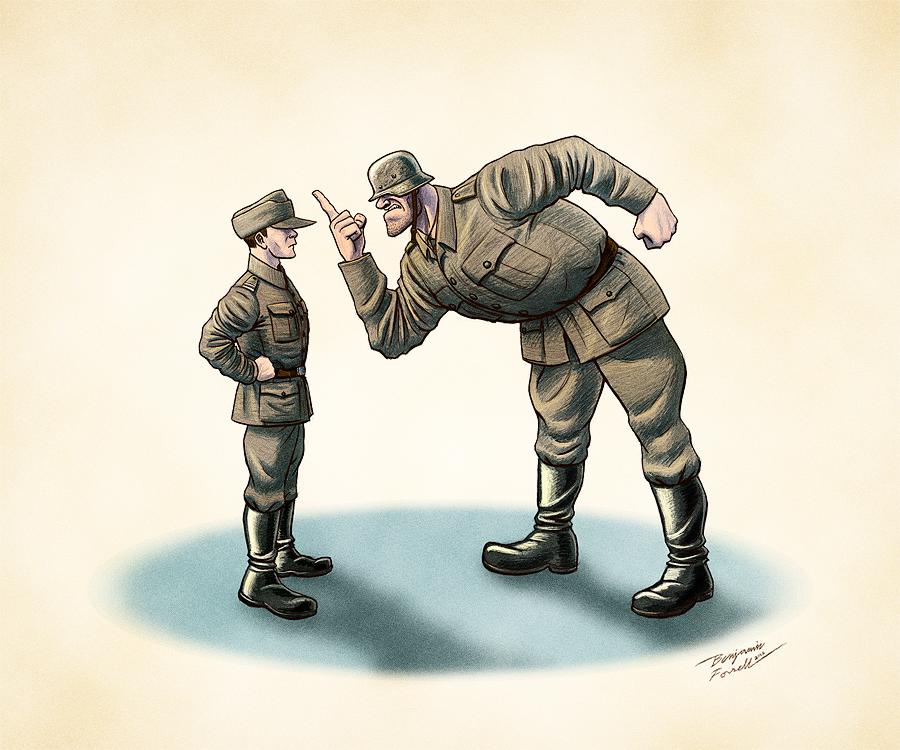 Artilleryman Speaks His Mind by BenjaminForsell