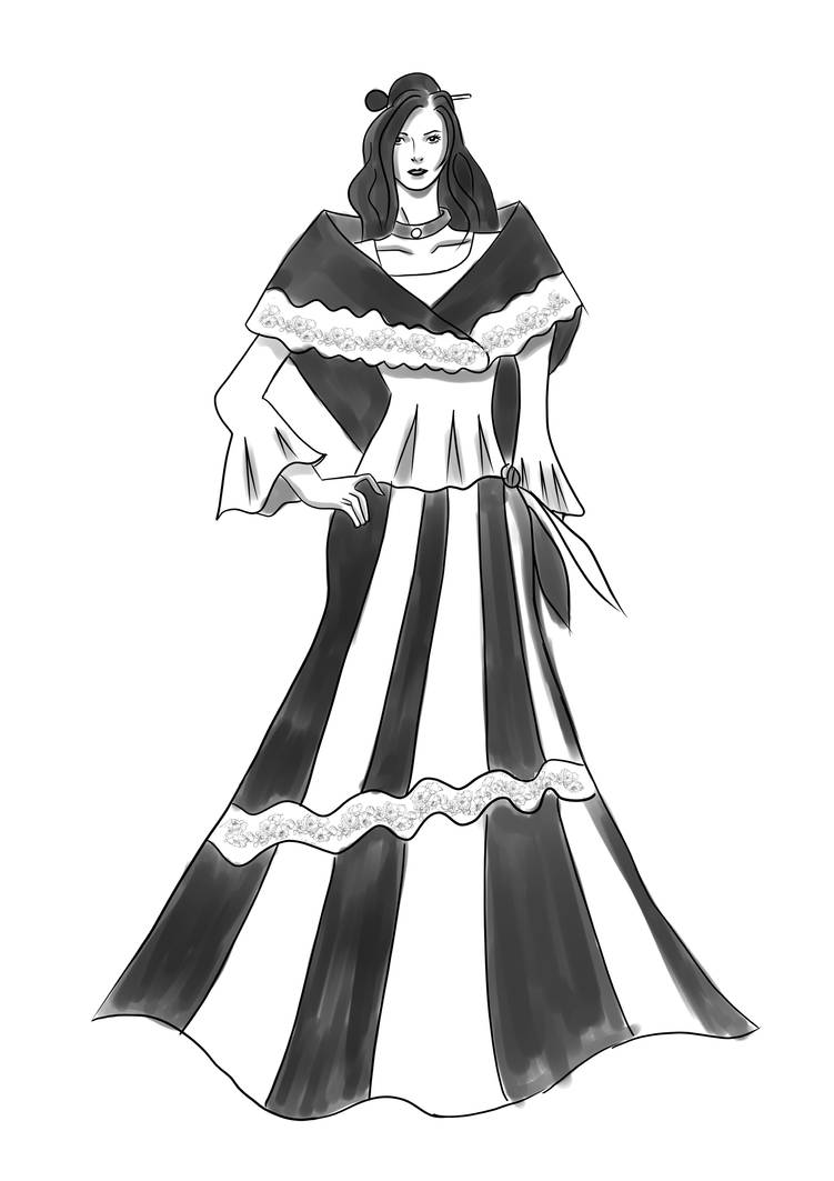 68bbe134cc7 Simple Maria Clara Dress By Blindlove18 On Deviantart