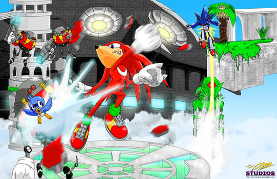 Knuckles in Sky Sanctuary