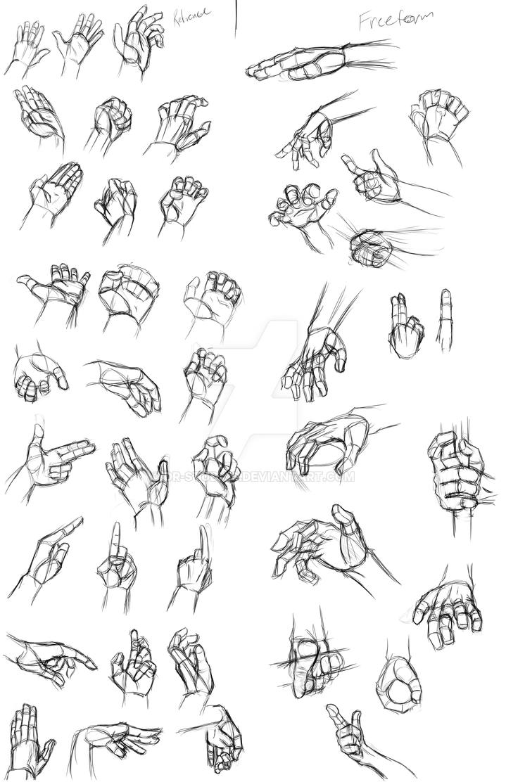 Hand References/practice by DR-Studios