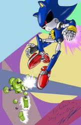 Birthday Gift:  Vectorman vs Metal Sonic