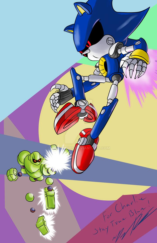 Birthday Gift:  Vectorman vs Metal Sonic by DR-Studios
