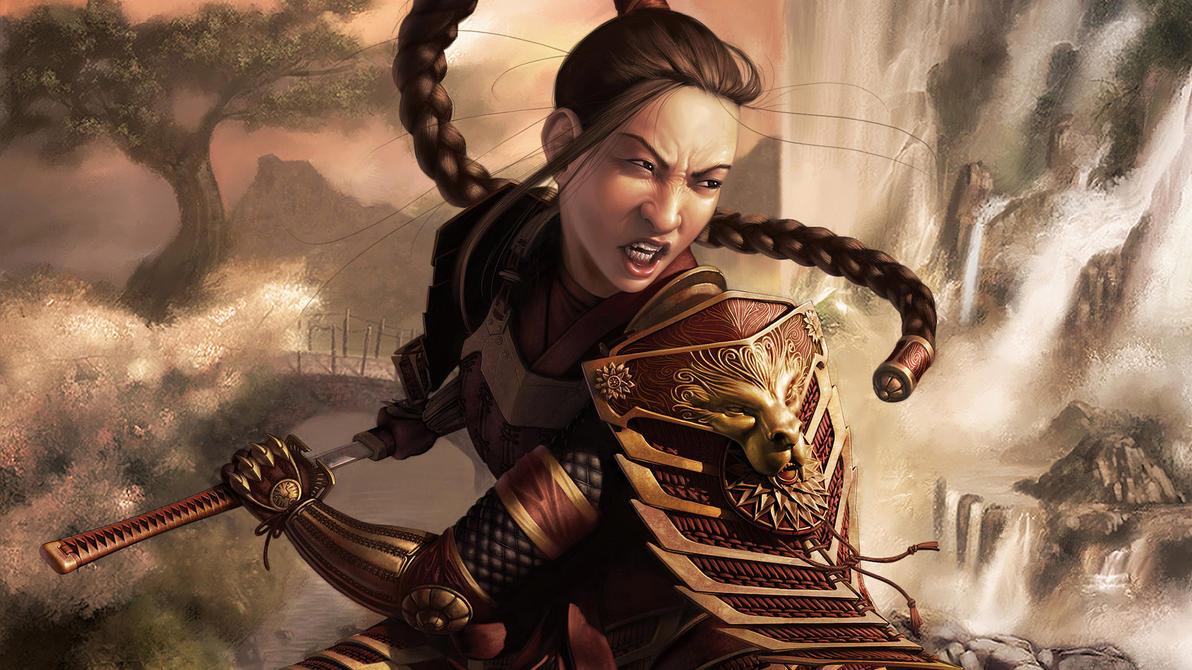 Women Fighters In Reasonable Armor / Samurai Girl Warrior ...