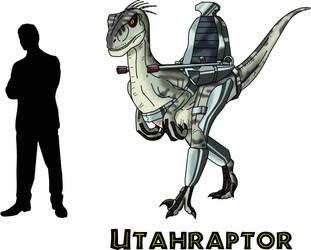 Dino Riders Utahraptor by AtlasMaximus
