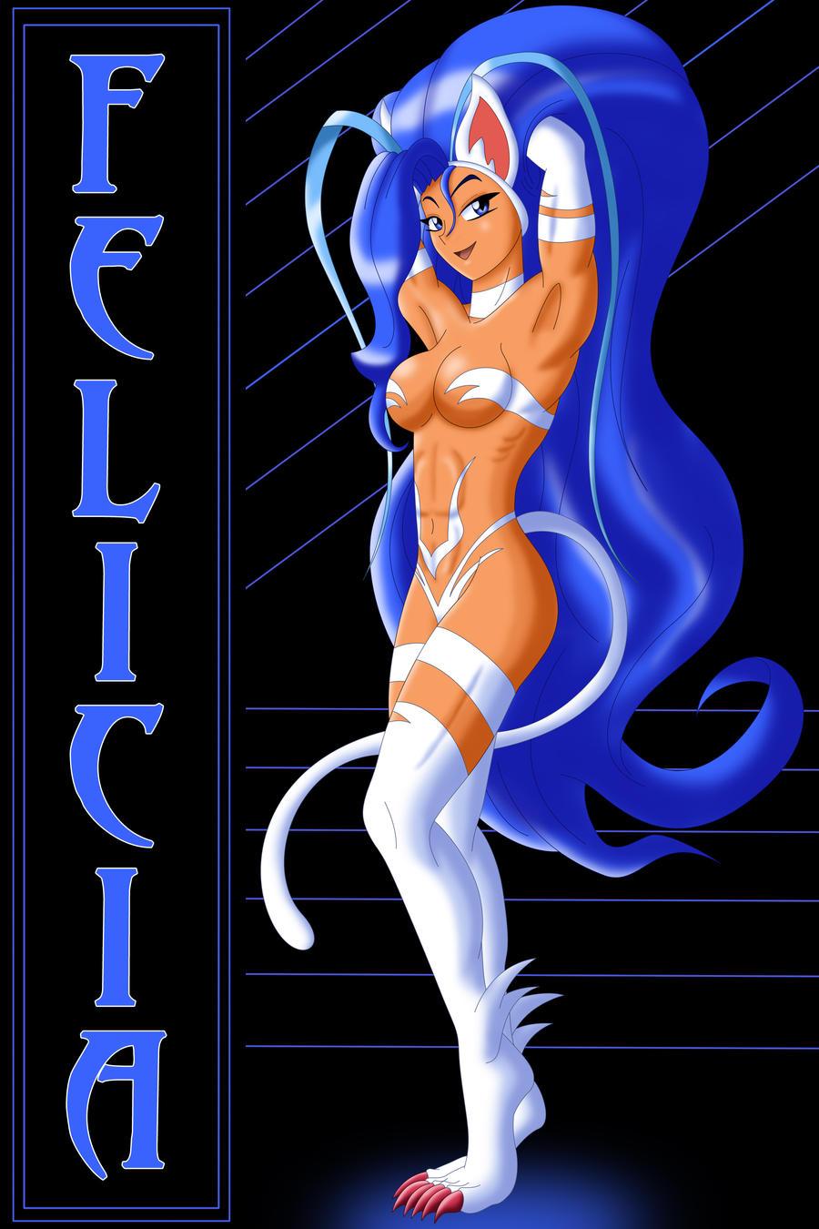 Catgirl Felicia by AtlasMaximus