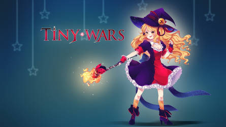 Fire Witch Girl Wallpaper - TinyWars by TinyWars