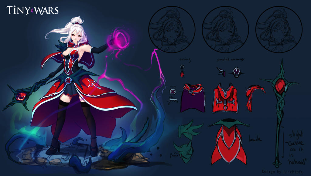 Rose Character Concept Artwork