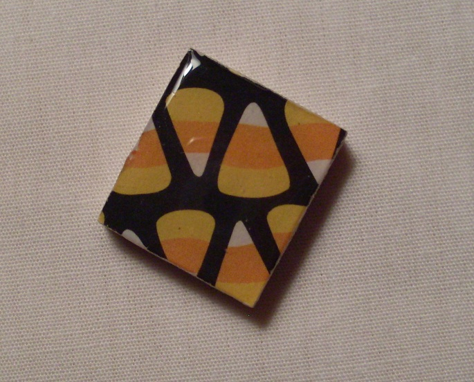 Candy Corn Scrabble Tile by PastryStitches