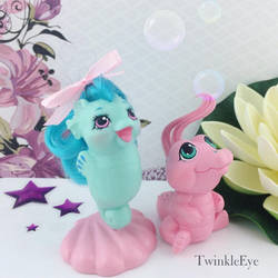 Baby Sea pony sculpture - Beachcomber and Floaty