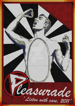 Pleasurade EP poster and Logo